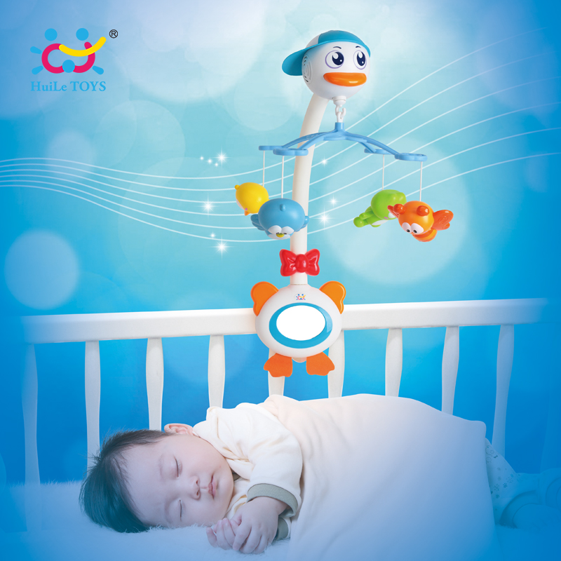 Baby Crib Musical Mobile Bell Music Box with Holder Arm Daytime and Evening Mode Baby Bed Hanging Rattle Toys Newborn Gift bed cradle musical carousel mobile bed bell support arm cradle music box with rope automatic carillon music box without toys