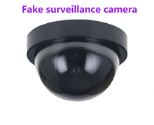 hot Fake Camera Home Security Simulated video Surveillance indoor/outdoor Surveillance Dummy Led Light fake Dome camera(China)