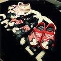 Mini Sed Zapatos 2016 Verano de las muchachas Lindas Sandalias Niñas zapatos de Los Niños tamaño de los zapatos de Bebé Para La Muchacha EU24-29 Mitch mini zapatos de sed