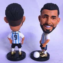 Soccerwe Movable Doll 2018 Cup of Soccer World Aguero Puppet Argentina 9 White Kit Gift(China)