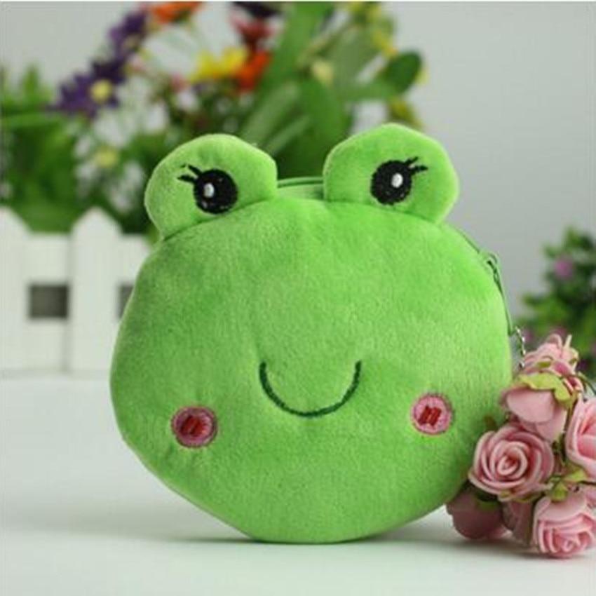 M044 Cartoon Cute Owl Big Eyes Frog Plush Coin Purse Flat Small Bag Cloth Key Bag Girl Women Student Gift Wholesale