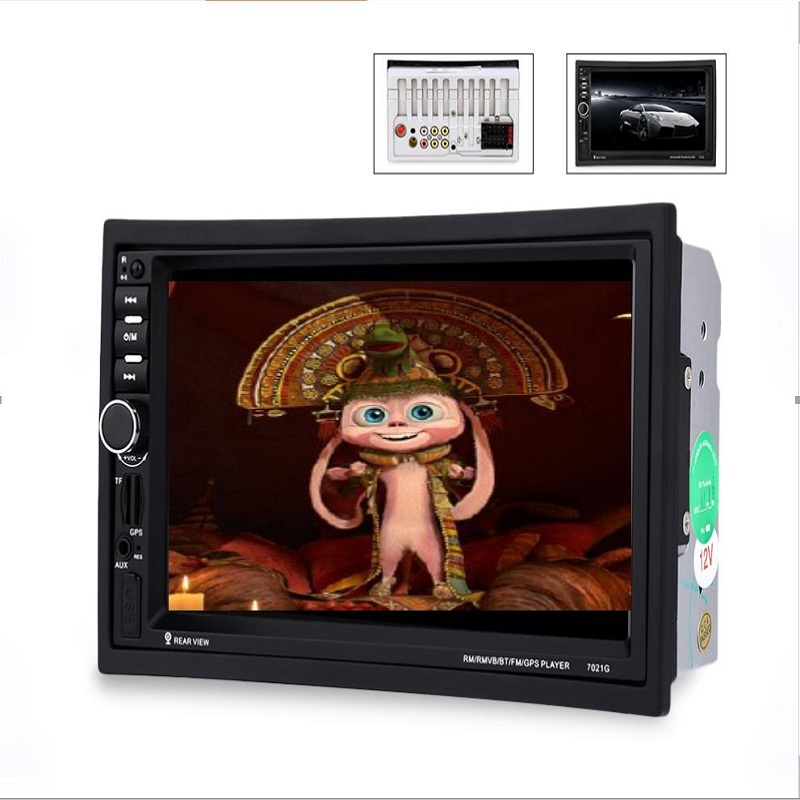 7021G 2 Din Car Multimedia Player With GPS navigation 7'' HD Bluetooth Stereo Radio FM MP3 MP5 USB Touch Screen Auto Electronics