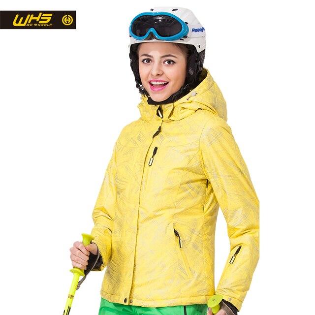 WHS Новый Для женщин лыжная куртка зимняя теплая уличная куртка для снежной погоды пальто женские водонепроницаемые куртка для снежной погоды Женская дышащая спортивная одежда