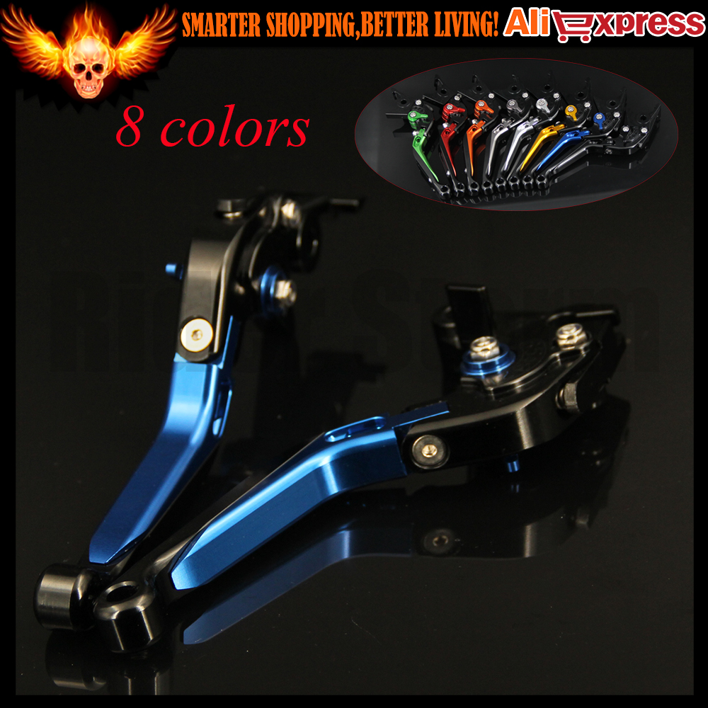 ФОТО Extendable Adjustable Blue Motorcycle CNC Brake Clutch Levers For BMW F800GS/Adventure F800R F800GT F800ST F800S F700GS F650GS