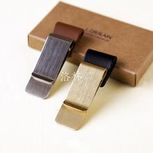 Brass Notebook Clip Pen Clip for Vintage Leather Traveller Notebook