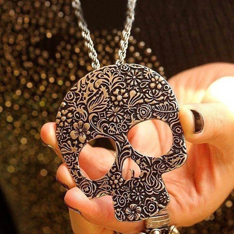Fashion Sunshine jewelry store vintage gothic skull Necklaces New Fashion Free Shipping
