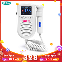 New Arrival! Cofoe Doppler Fetal Baby Heart Rate Detector With 3Mhz Waterproof Probe Medical Ultrasound Pregancy Doppler in 2019