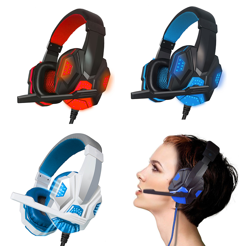 Professional Surround Stereo Gaming Headset Headband Headphone USB 3.5mm LED with Mic for PC  High performance Hot Sale