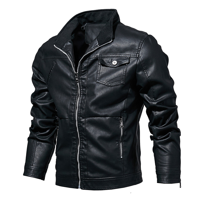 Mountainskin Men's Leather Jackets Motorcycle PU Coat Male Spring Autumn Casual Leather Coats Slim Fit Mens Brand Clothing SA613