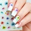 1 Hoja Elegante Nail Art Calcomanías de Agua Pequeña Flor Pegatinas de Transferencia de Uñas de Manicura DS-316