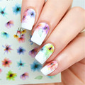 1 Sheet Elegant Nail Art Water Decals Small Flower Nail Manicure Transfer Stickers DS-316