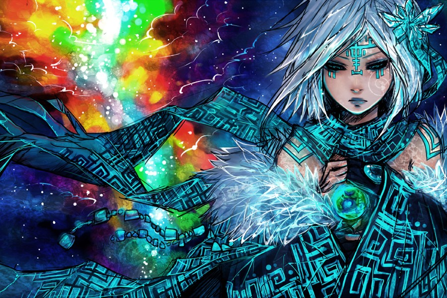 DIY-frame-anime-original-sci-fi-space-nebula-stars-color-girls-art-artistic-cloth-silk-art Awesome Anime Art Amazing @koolgadgetz.com.info