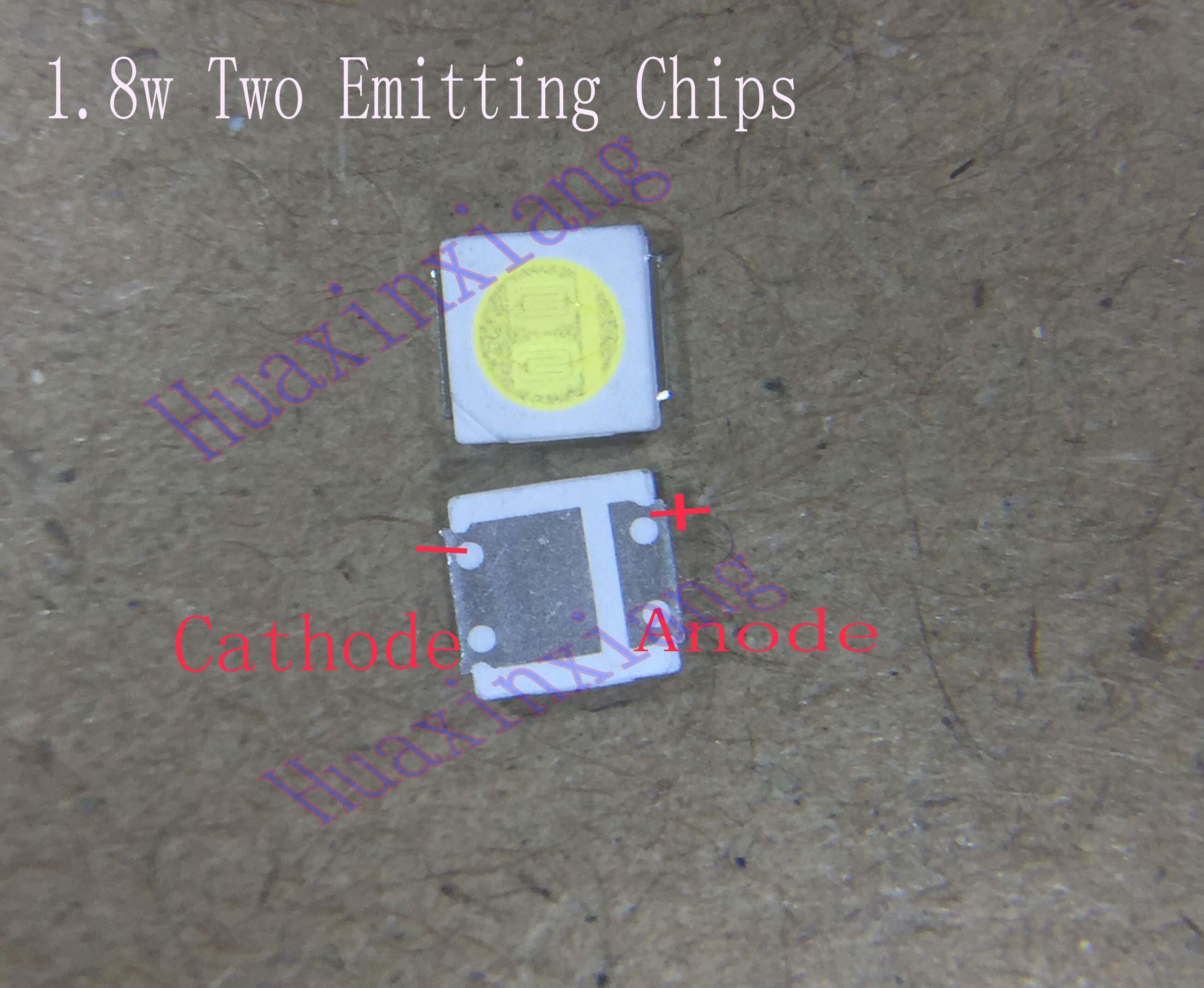 100pcs/Lot  SMD LED 3030 3V 1.8W Cool White High Power For TV Backlight Application 0.6mm