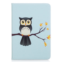 Lovely Owl Panda PU Leather with TPU Back Stand for iPad Mini 4 Smart Cover Flip Magnetic Case for iPad Mini 4 with Card Slots