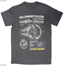 Quality T Shirts Printing Short Man Cheap T Shirt Men'S Schematics Millennium Falcon Yt 1300 Transport T Shirt(China)