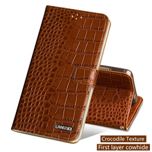 Genuine Leather Flip Phone Case For Xiaomi Mi 5 6 A1 A2 Max 2 3 Mix2s case Crocodile Texture Cover Redmi Note 4 4X 4A Plus
