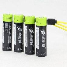 Высокая Класс 18650 USB Перезаряжаемые Батарея Bateria 3,7 В 1500 мАч литий-ионный полимерные аккумуляторы взимаются микро кабеля USB