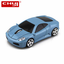 CHYI Wireless Scuderia Mouse Super Sports Car 2.4Ghz 1600DPI Coupe Grand Tour Vehicle Optical Led Front light Mice For PC Laptop(China)