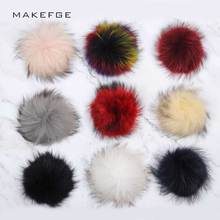 Real Fur Pompon Peas Multicolor Raccoon caps Accessories Sho