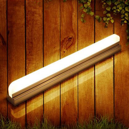 Acrylic Modern Bathroom LED Mirror Light 42cm Concise Wall Lamp Fixtures For Home Lighting Indoor Bedside Lights lampada de led only minimalist modern creative bedside lamp led wall lamp mirror front lamp aisle lighting fixtures wall lights led