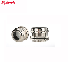5pcs/lots PG42 Nickel Brass Metal Waterproof Cable Glands Joints IP68 cable connector for 32-38mm cable стоимость