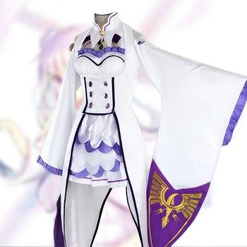 Re  Zero Kara Hajimeru Isekai Seikatsu Emilia Life in a diferente mundo de Zero  Cosplay disfraz ropa uniforme 84687d8748fc