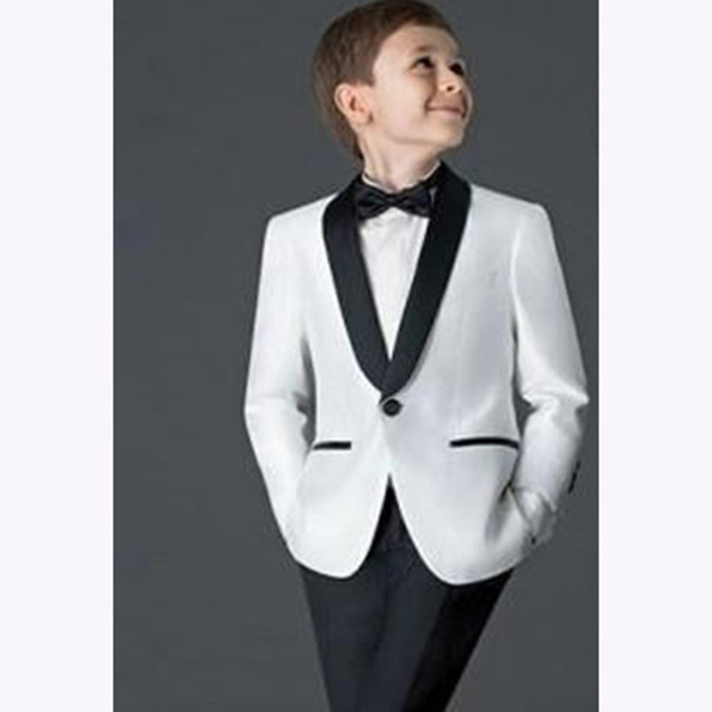 716e0c3f3 2018 descremada chicos trajes para bodas niños smoking traje nuevo negro  blanco Kid boda blazers