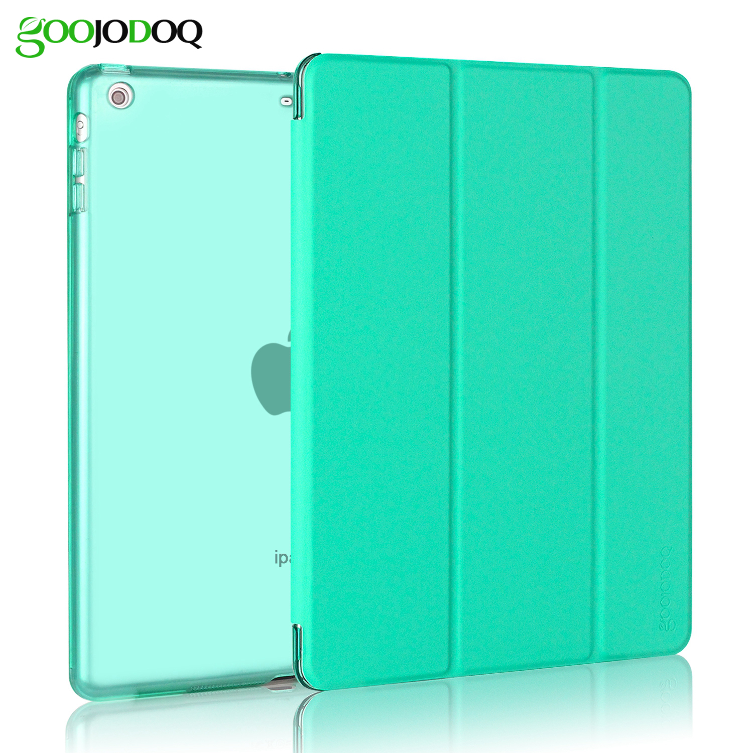 For iPad Air 2 Air 1 Case,Slim Fit Smart Cover with Translucent PC Hard Back Case Fold Stand for Apple iPad Air 2 1 / 5 6 Coque for ipad air 2 air 1 case slim pu leather silicone soft back smart cover sturdy stand auto sleep for apple ipad air 5 6 coque