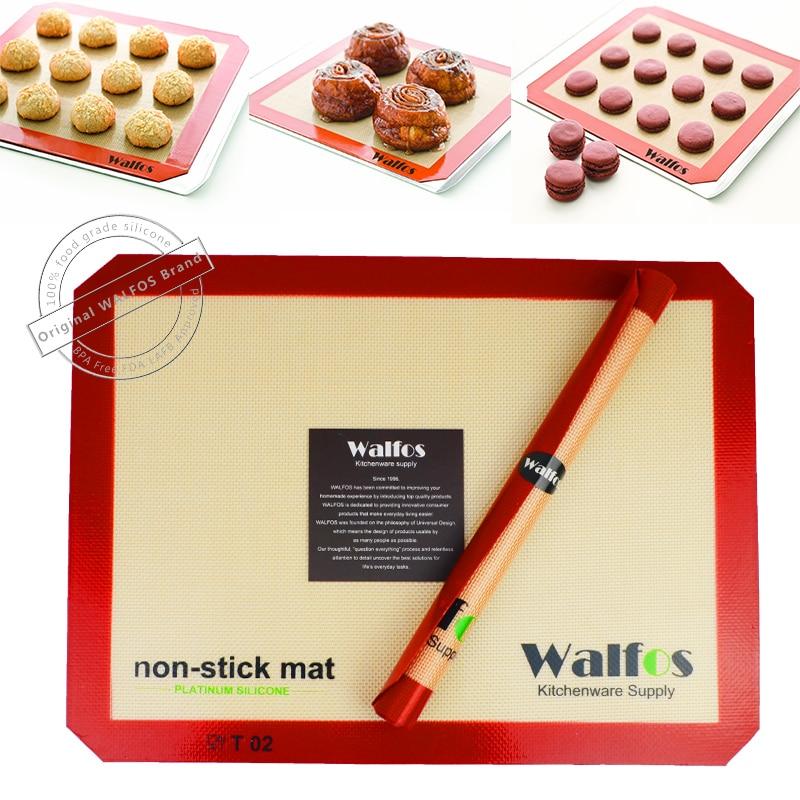 WALFOS zīmols Cepeškrāsns cepešpannas necaurlaidīgs silikona cepšanas paklājiņš Cepamais cepetis Cookie Liner mīklas paklājs Bakeware Kitchen Tool
