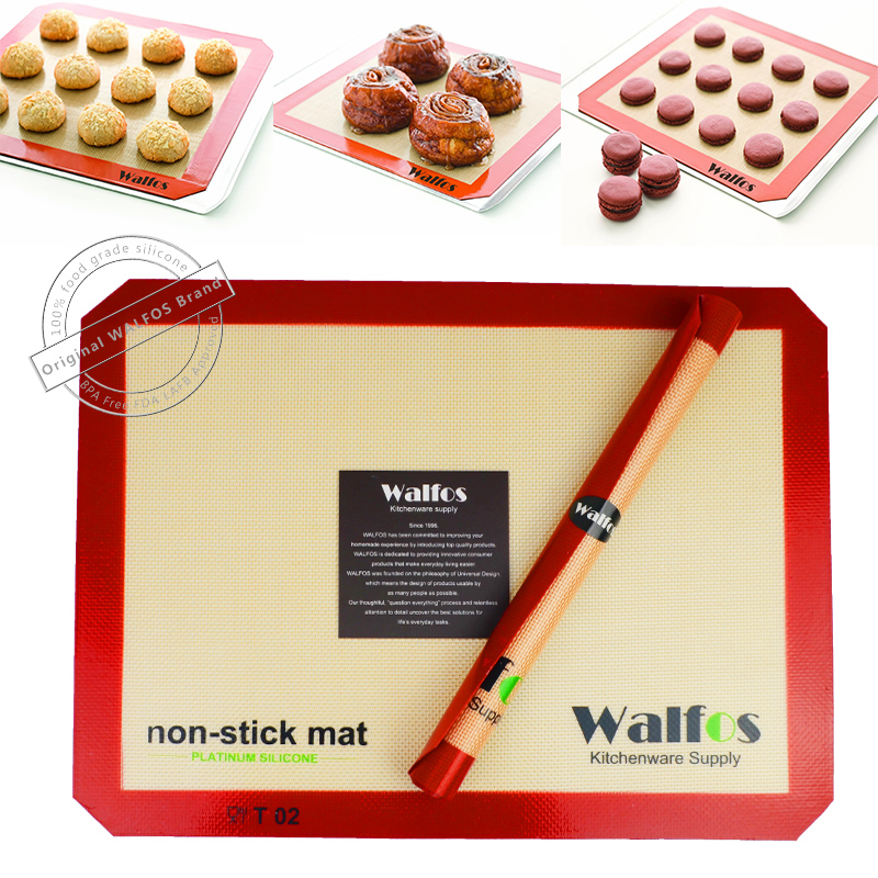 WALFOS ยี่ห้ออบแผ่นซับไม่ติดซิลิโคนเสื่ออบไม่ติดอบคุกกี้ Liner ขนมเสื่อภาชนะครัวเครื่องมือ