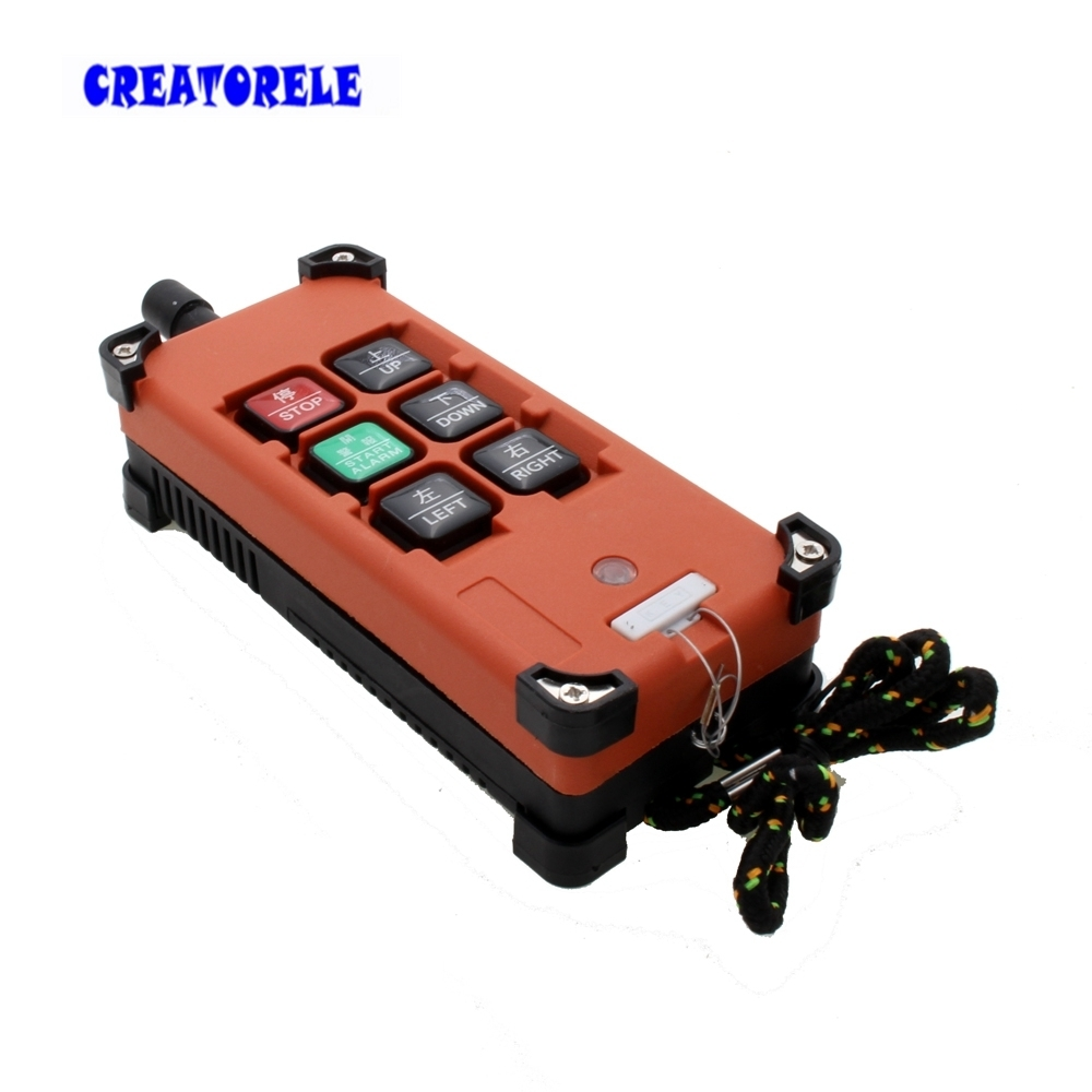 AC 220V 380V 110V DC 12V 24V Crane Industrial Remote Control Wireless Transmitter Push Button Switch 1 transmitter 1 receiver