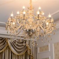 ثريا كريستالية حديثة بإضاءة LED ثريا على شكل كهرماني لغرف النوم ثريا بمصباح طويل من الكريستال للمطبخ-في النجف من مصابيح وإضاءات على