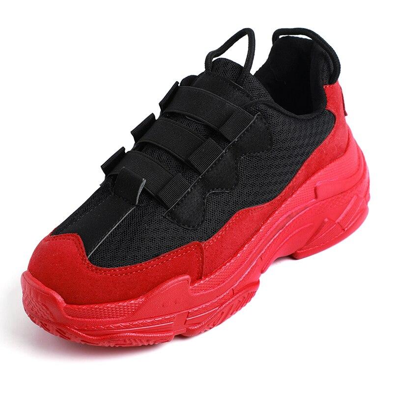 Haute Sneakers Noir Femme Chaussures Noir Papa Rouge De 2018 Chunky Décontracté forme rouge Mode Plate Dames Femmes AwZ5qIg1Z