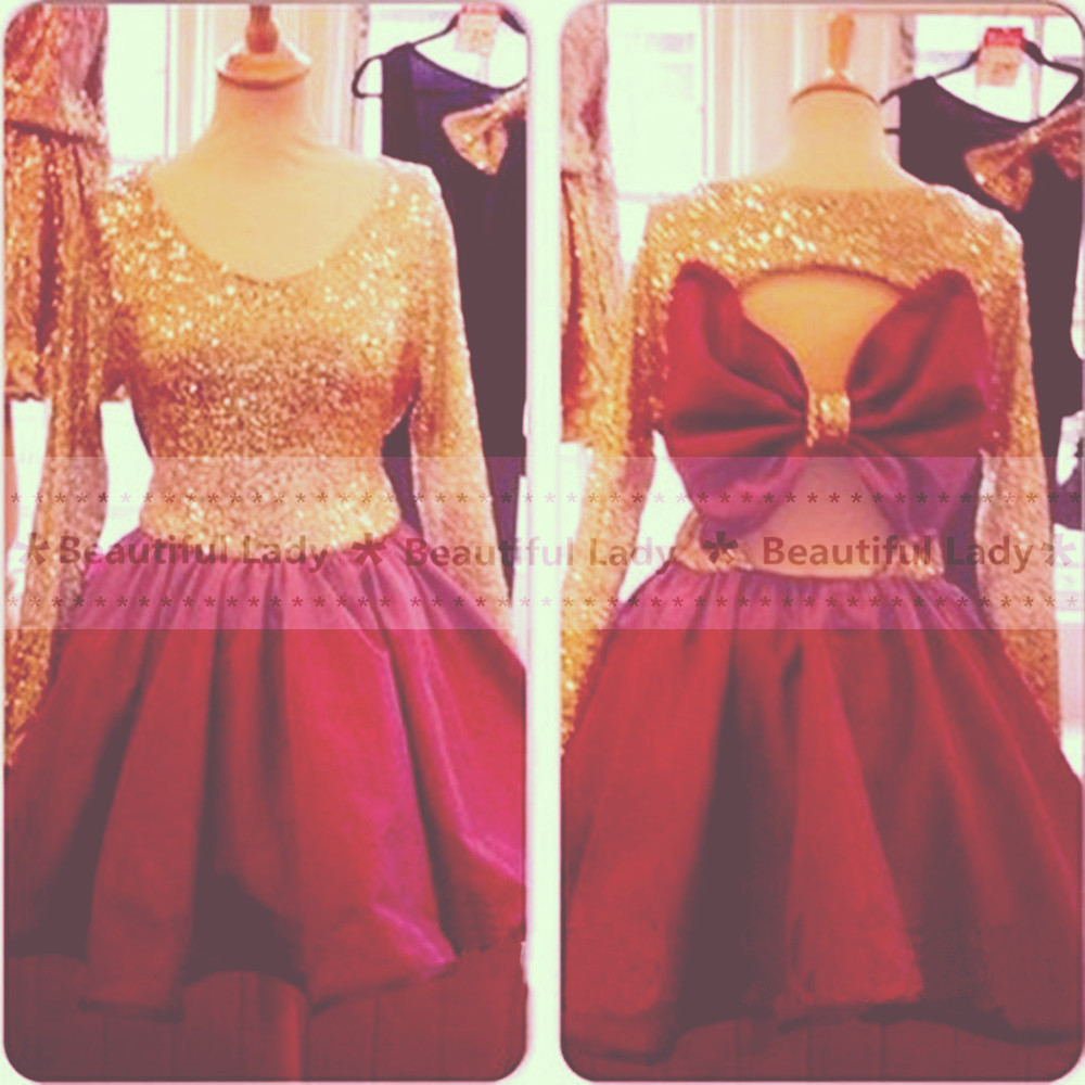Long sleeve prom dresses tumblr gold