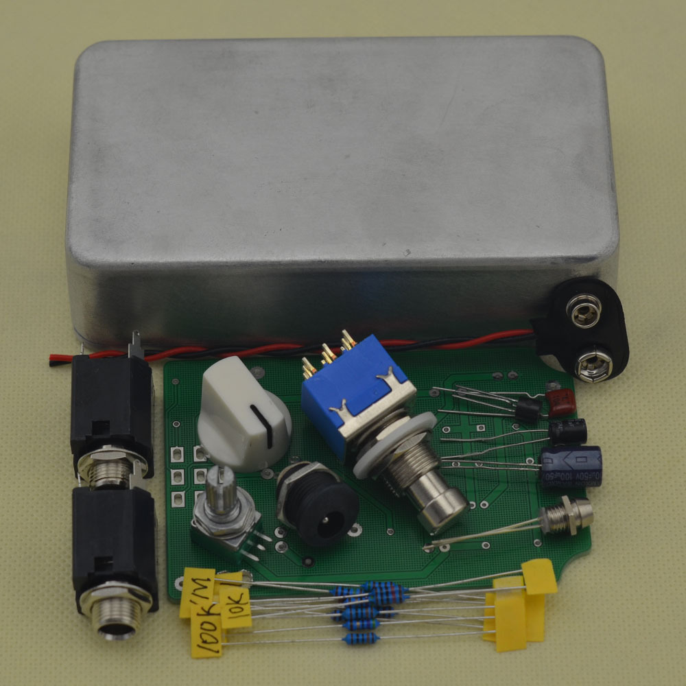 DIY musical instruments Guitar Effect Pedal Boost True Bypass BOOSTER Kits AL mooer ensemble queen bass chorus effect pedal mini guitar effects true bypass with free connector and footswitch topper