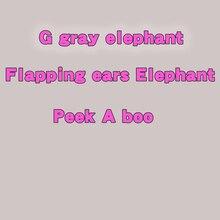 Говорящий Поющий Peek a boo слон Говоря Плюшевые игрушки электронные мягкие для детская одежда для девочек мальчиков детская диадема