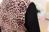 tlzc леопардовый леди модные топы новинка 2017 года лоскутное дизайн женские повседневные футболки плюс размеры л-Размер 3XL винтаж футболка для женщин