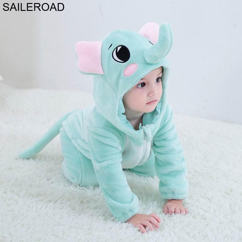 SAILEROAD Elephant Newborn Gown Sleeping Gown Baby Blanket Sleepers Baby Badcape Sleeping For Baby Girls Kigurumi Footed Pajamas