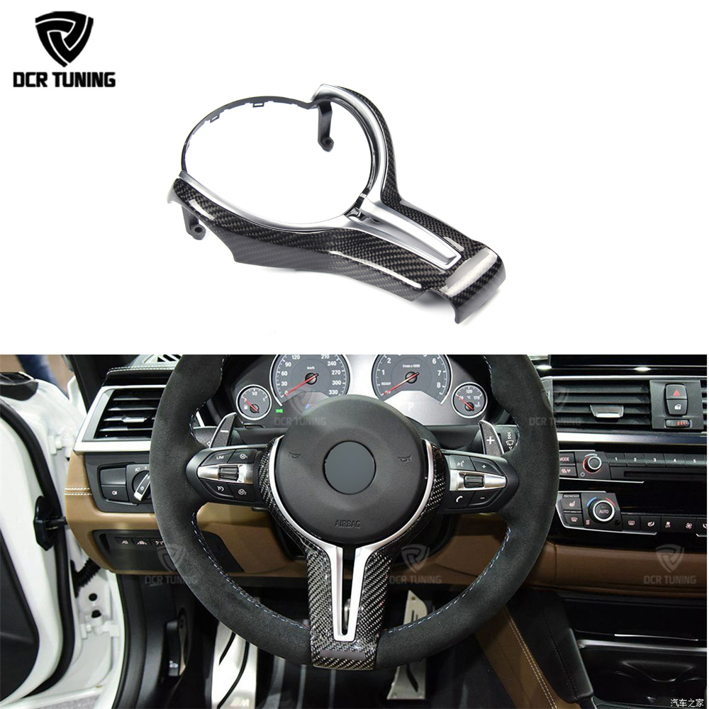 For BMW M2 M3 M4 M5 M6 X5M X6M Carbon Fiber Steering Wheel Trim Cover for