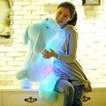 Большой Размер 80 см Длина Творческий Вечер Свет ПРИВЕЛ Симпатичная Собака Фаршированные Плюшевые Игрушки Лучшие Подарки для Детей Друзей Brinquedo