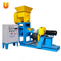 Small floating fish feed pellet extruder machine price