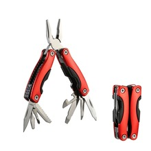 1Pcs Multi EDC Stainless Steel Pliers 8 In 1 Outdoor Portable Pocket Mini Hand Tools Folding Knife Tungsten Cutter Fishing Plier