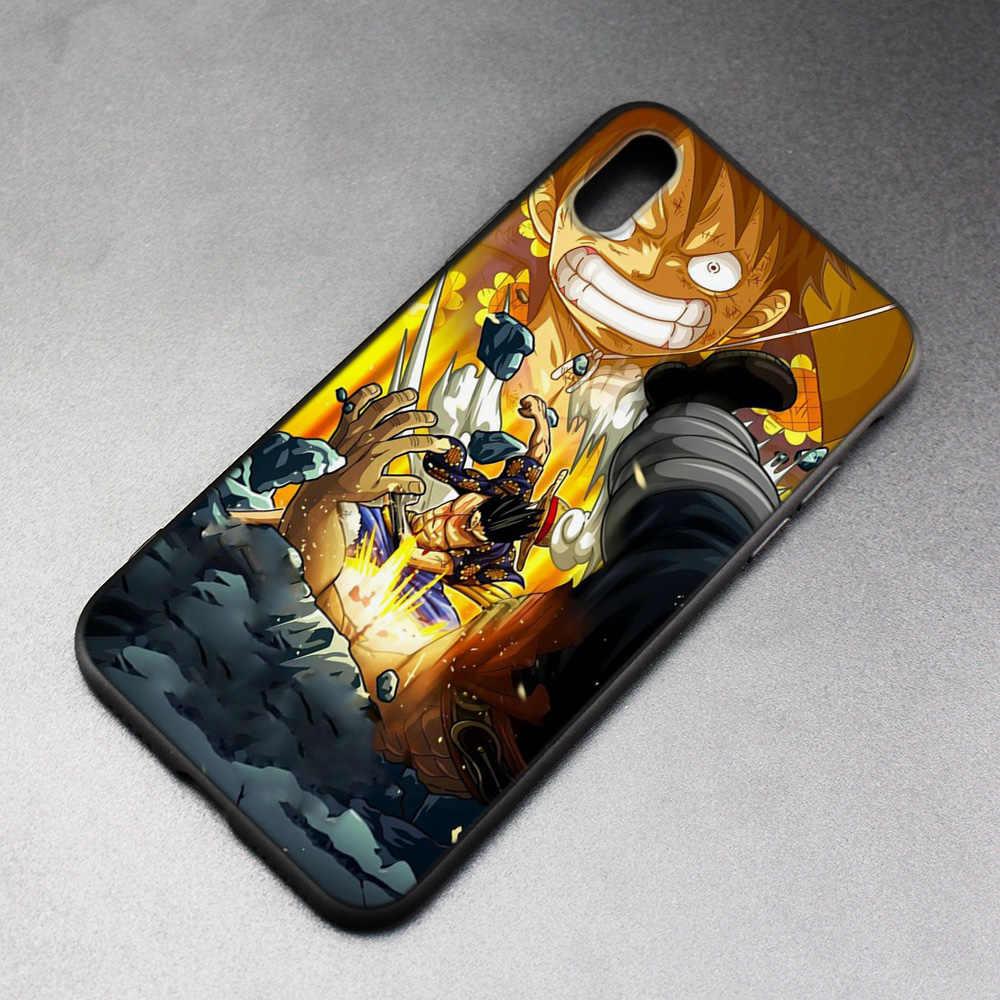 Чехол для iPhone XS Max X XR 6 6s 7 8 плюс 5 SE 5S скраб Силиконовые телефонные чехлы мягкий одна деталь Луффи обезьяна