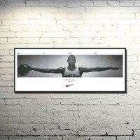Майкл Джордан Супер Баскетбол звезда Искусство Шелковый плакат 13x36 дюймов Спорт Prictre печать подарок на день рождения 001