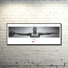 Michael Jordan Super Basketball Star Art Silk Poster 13x36 inches Sport Prictre Print Birthday Gift 001(China)