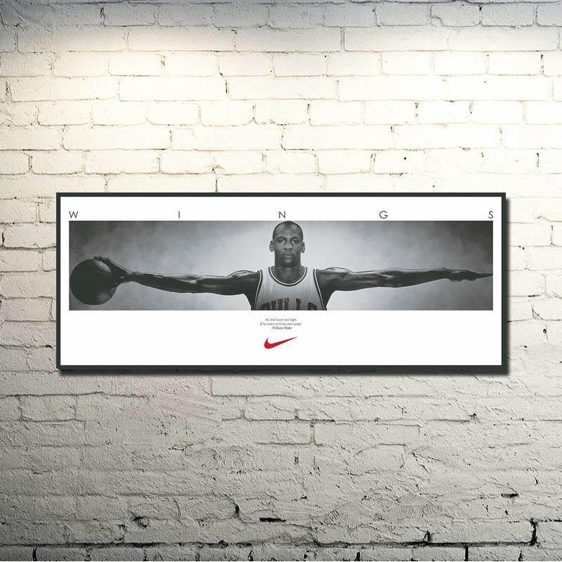 Michael Jordan Super baloncesto estrella arte seda cartel 13x36 pulgadas deporte Prictre imprimir Regalo de Cumpleaños 001