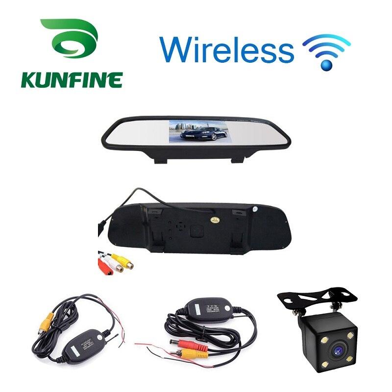 imágenes para Wireless Car Styling 4.3 pulgadas Espejo Retrovisor Del Coche Monitor Del Coche Pantalla de Vista Trasera Inversa Cámara de Reserva Del Coche TV Pantalla