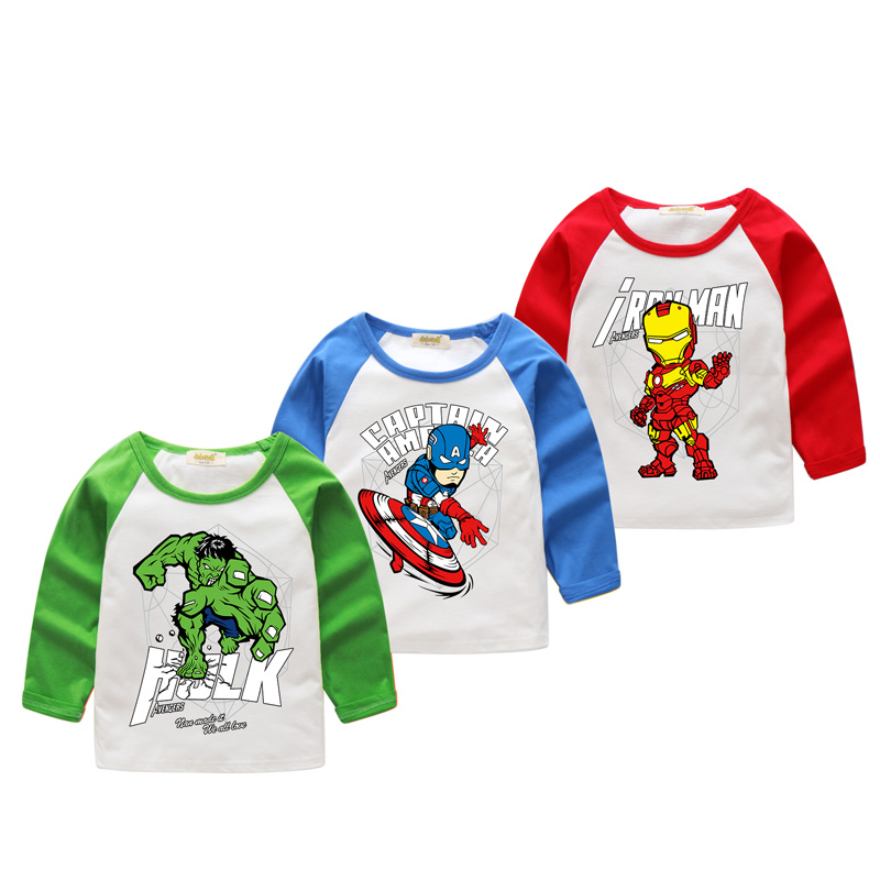 2018 Children New Cartoon 3D Hulk Print T-shirts For Boy Cartoon iron Man Pattern Tshirt Girl Long Sleeve Tee Tops Clothes CX009 женская футболка 3d 2015 t tshirt blusas femininas t 3d print