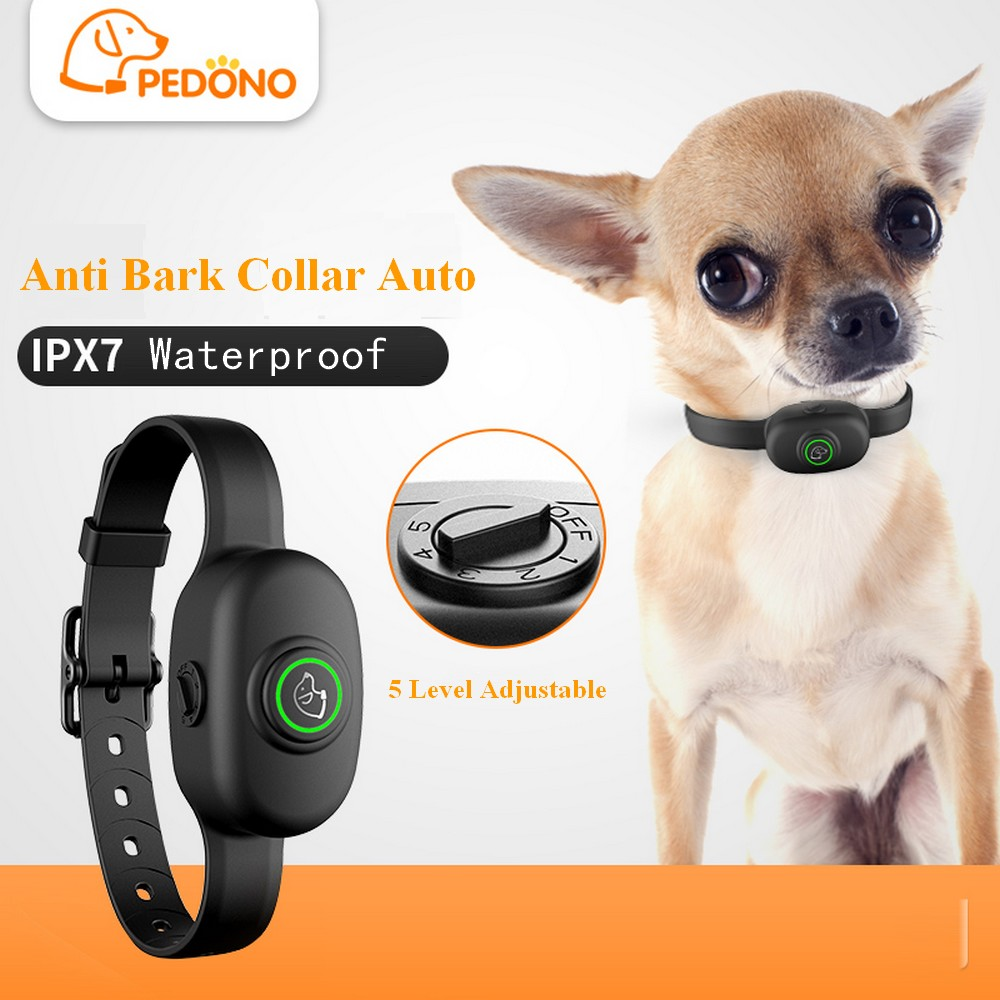 Pet Dog Anti Bark Collar Electric Collar Waterproof Dog Training Rechargeable Dog Stop Barking Collar Pet