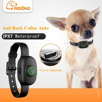 Pet Dog Anti Bark Collar Electric Collar Waterproof Dog Training Rechargeable Dog Stop Barking Collar Pet Trainer